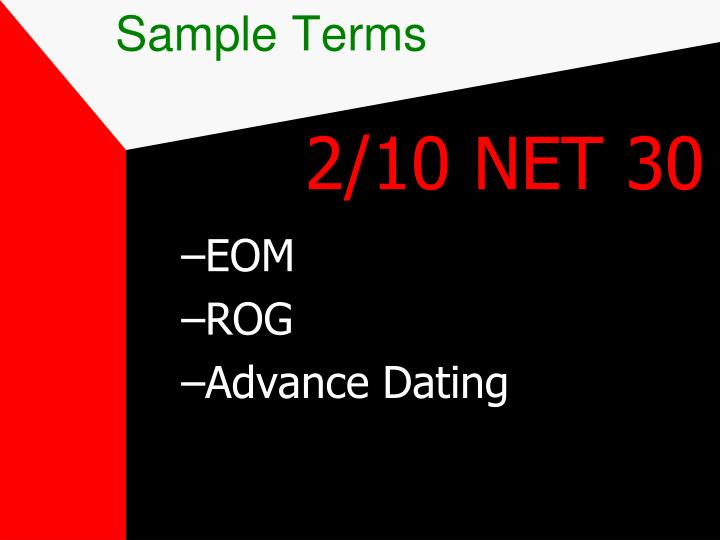 Sample Terms