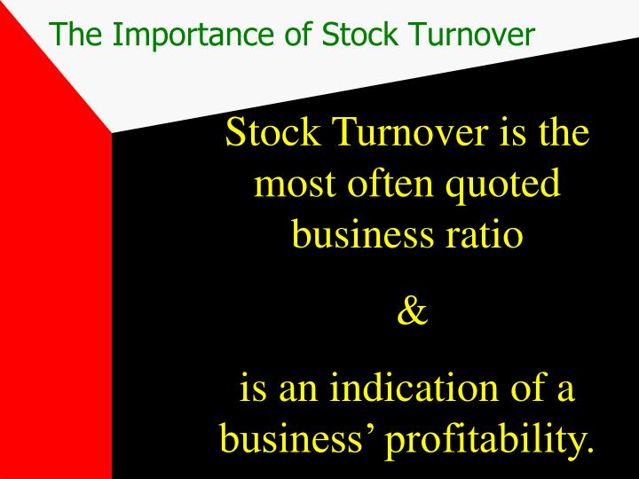 The Importance of Stock Turnover
