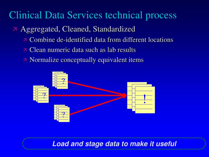 Clinical Data Services technical process