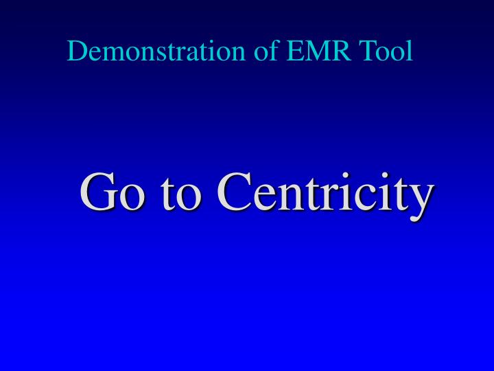 Demonstration of EMR Tool