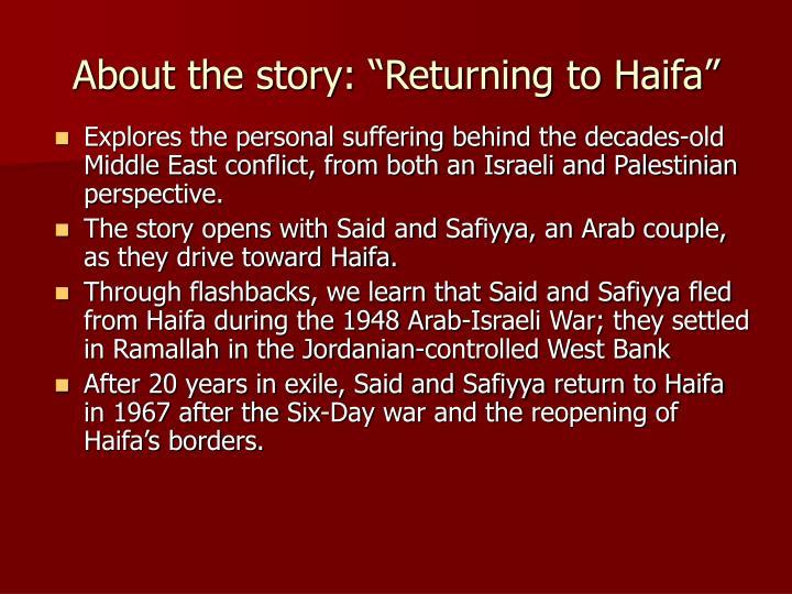 ghassan kanafani return to haifa pdf
