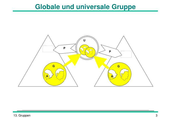 Globale und universale Gruppe