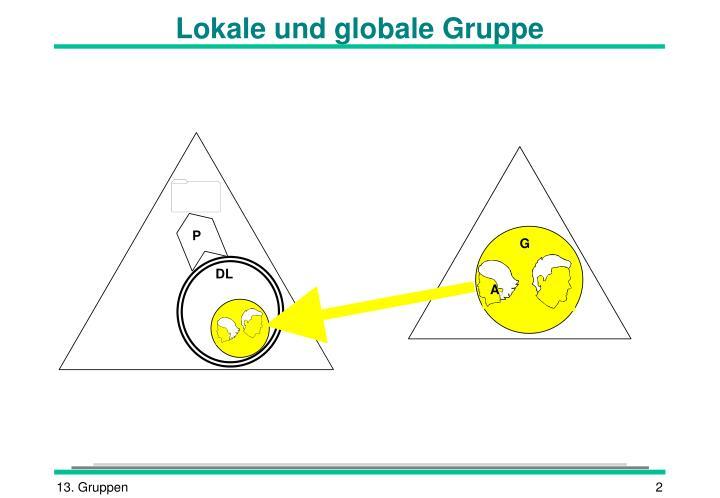 Lokale und globale Gruppe