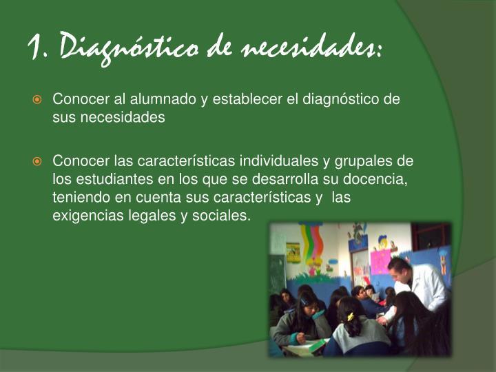 1. Diagnóstico de necesidades: