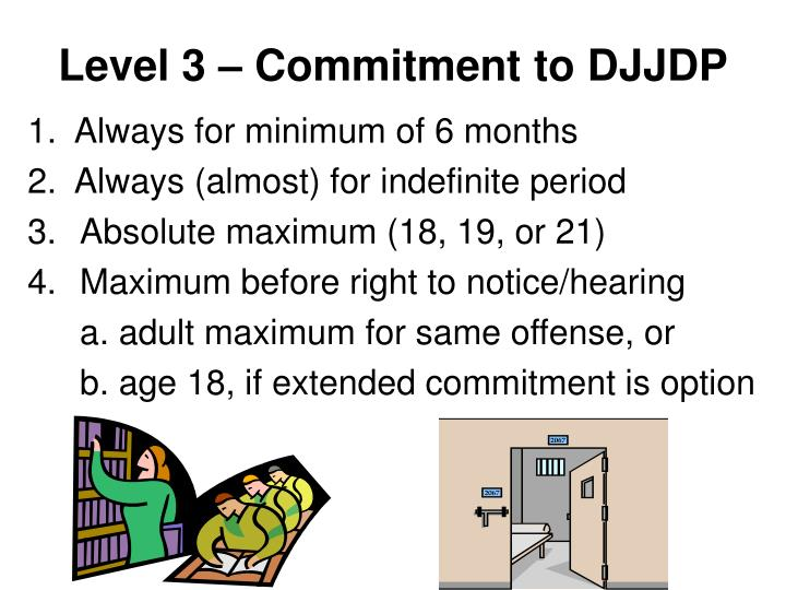 Level 3 – Commitment to DJJDP