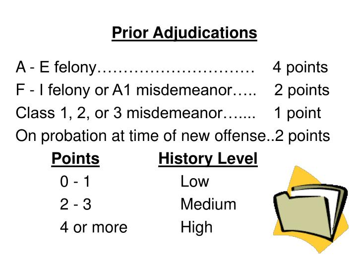 Prior Adjudications
