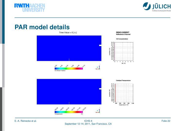 PAR model details