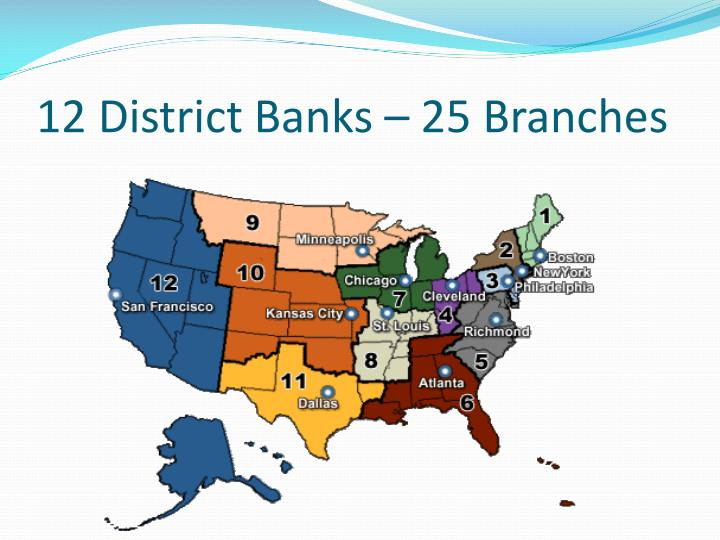 12 District Banks – 25 Branches