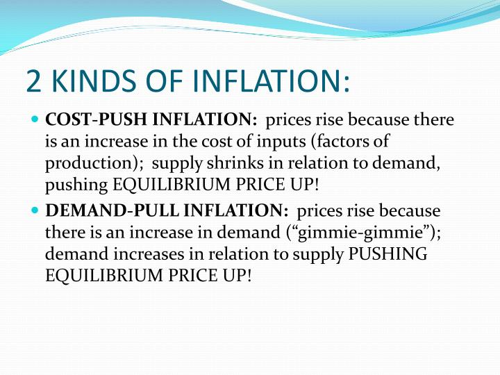 2 KINDS OF INFLATION: