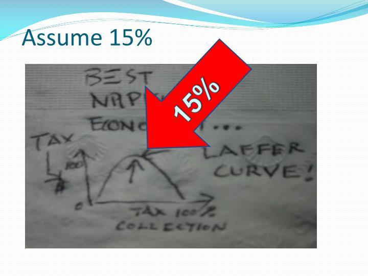 Assume 15%