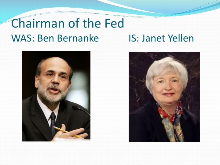 Chairman of the Fed