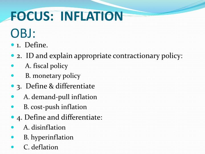FOCUS: INFLATION