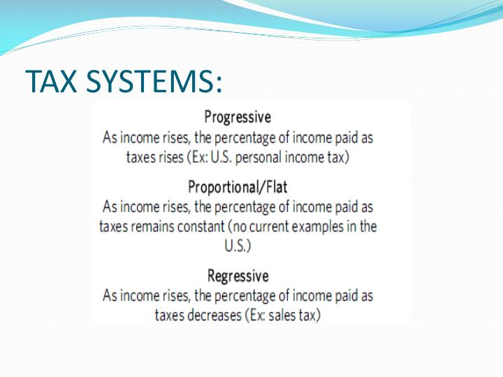 TAX SYSTEMS: