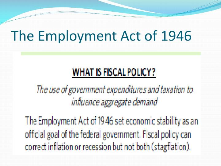 The Employment Act of 1946