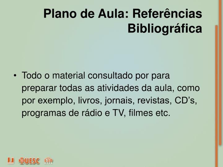Plano de Aula: Referências Bibliográfica