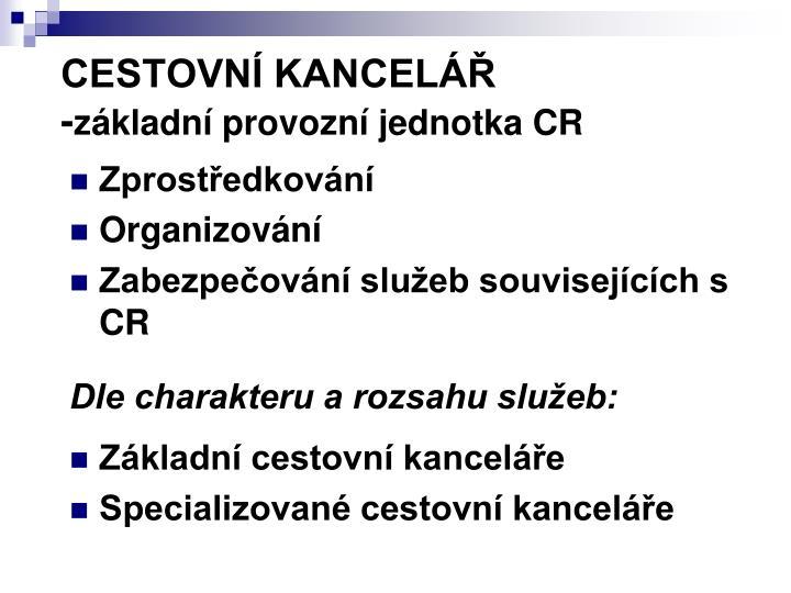 CESTOVNÍ KANCELÁŘ