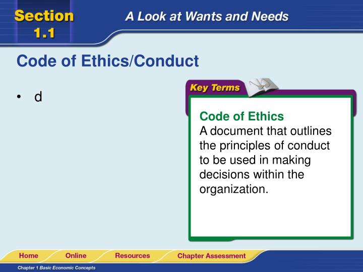 Code of Ethics/Conduct