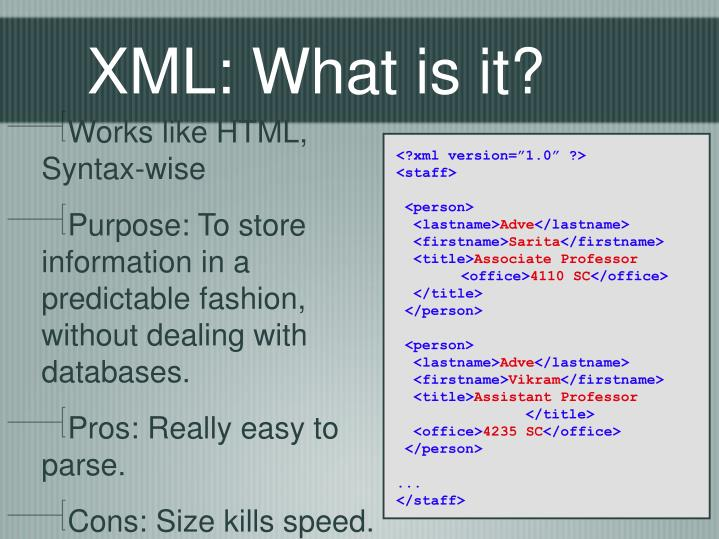 XML: What is it?