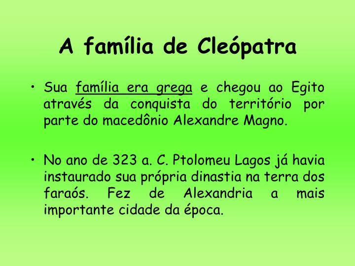 A família de Cleópatra
