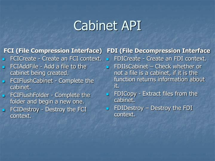 FCI (File Compression Interface)