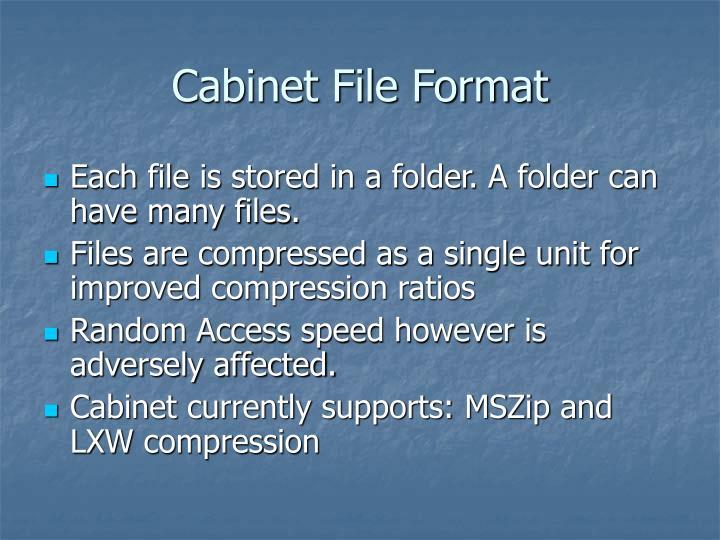 Cabinet File Format