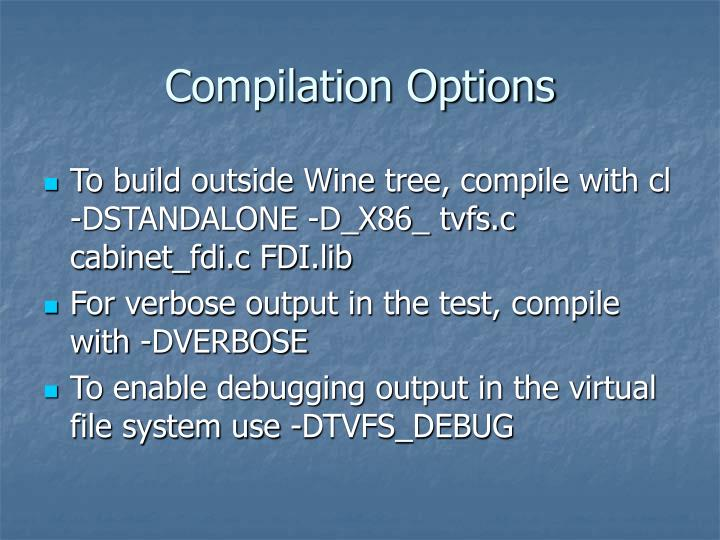Compilation Options