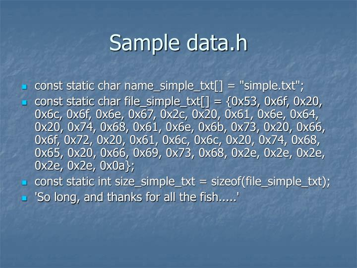 Sample data.h