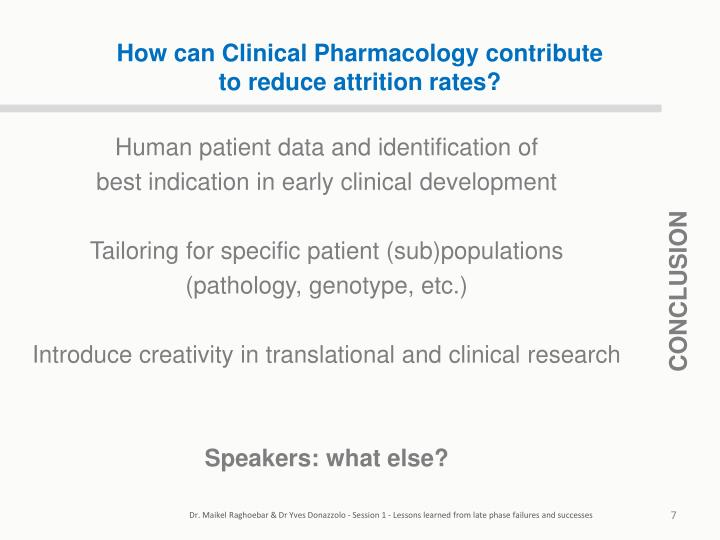 How can Clinical Pharmacology contribute