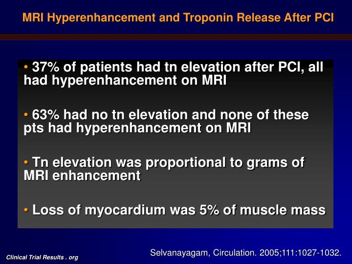 MRI Hyperenhancement and Troponin Release After PCI