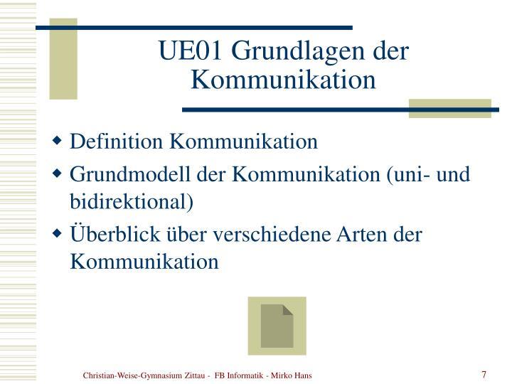UE01 Grundlagen der Kommunikation