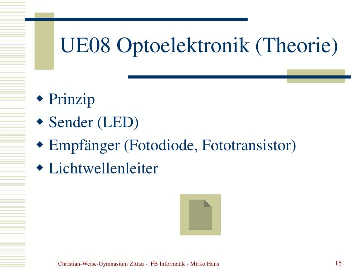 UE08 Optoelektronik (Theorie)