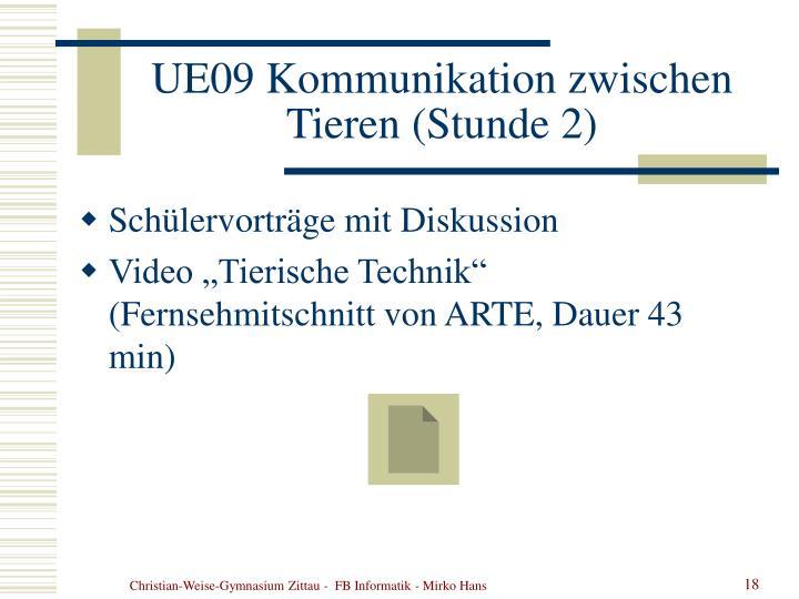 UE09 Kommunikation zwischen Tieren (Stunde 2)