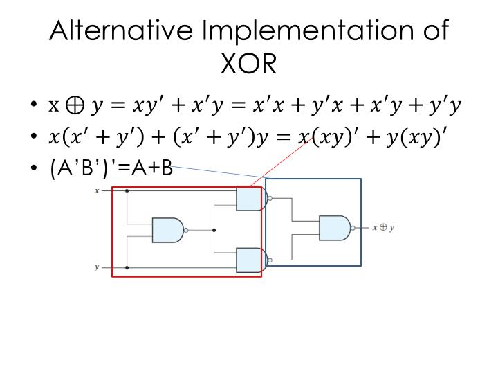 Alternative Implementation of XOR