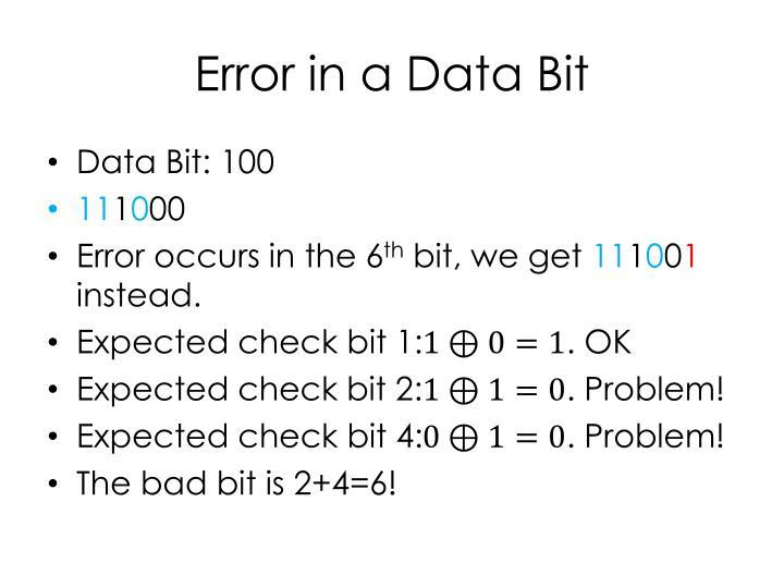 Error in a Data Bit