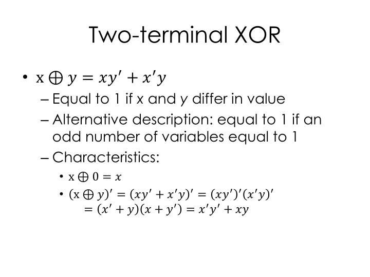 Two-terminal XOR