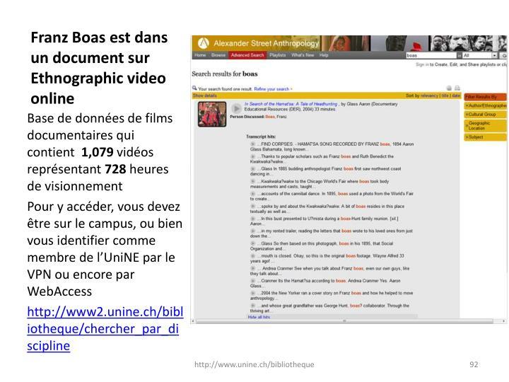 Franz Boas est dans un document sur