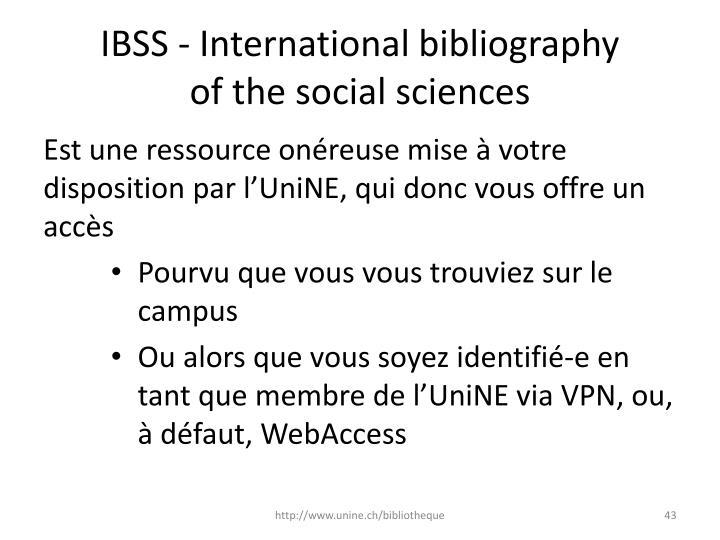 IBSS - International