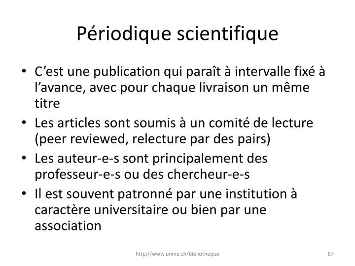 Périodique scientifique