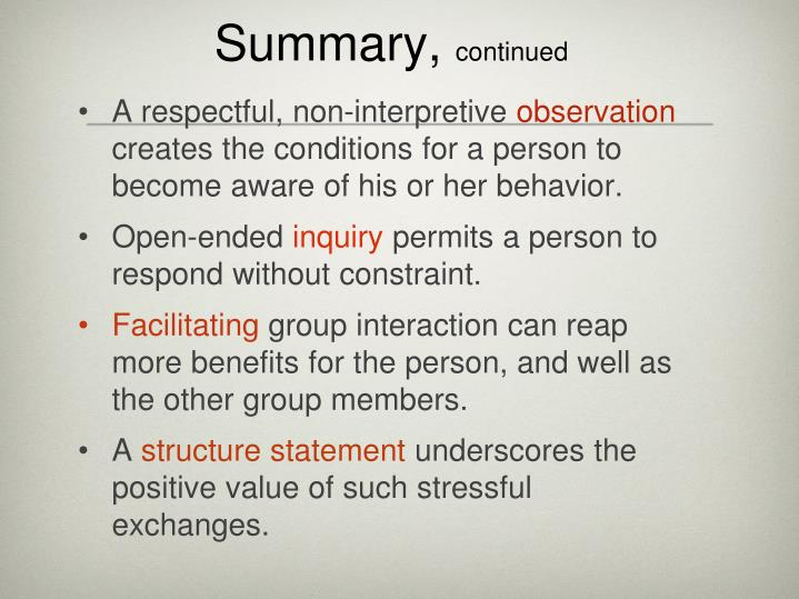 Summary,