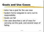 goals and use cases
