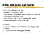 main success scenario