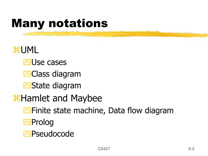 Many notations