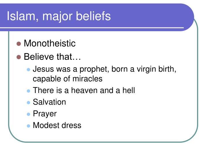 Islam, major beliefs