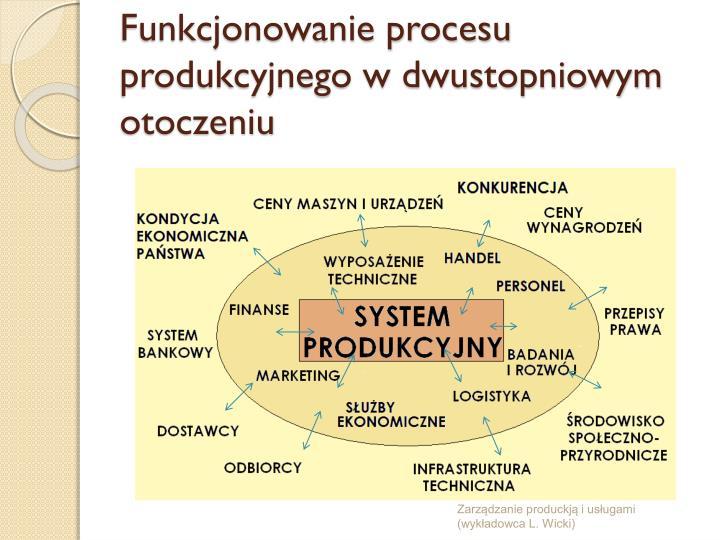 Funkcjonowanie procesu produkcyjnego w dwustopniowym otoczeniu