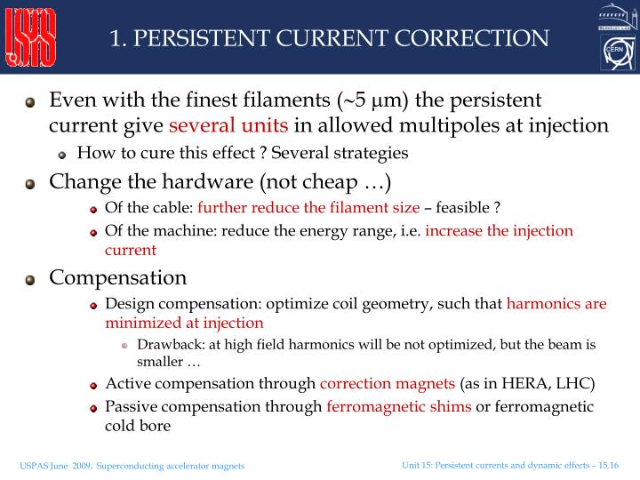 1. PERSISTENT CURRENT CORRECTION