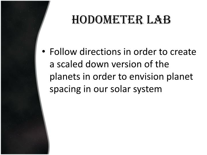 Hodometer Lab