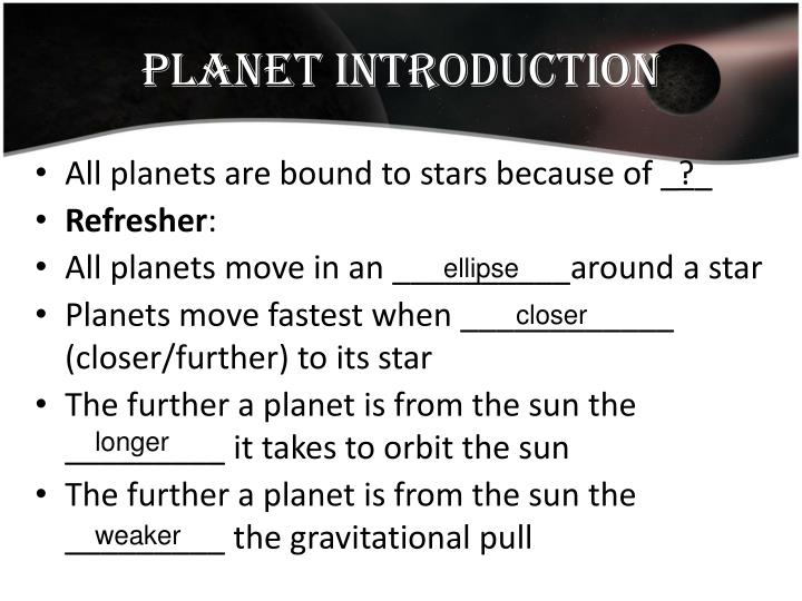 Planet introduction