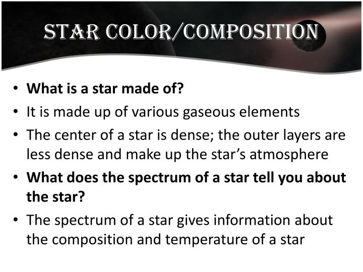 Star Color/composition