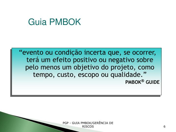 Guia PMBOK