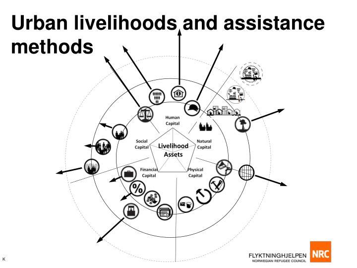 Urban livelihoods and assistance methods